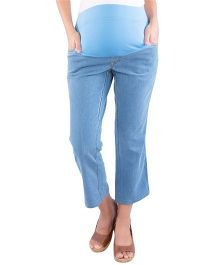 Morph Maternity Denim Capri - Light Blue