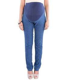 Morph Maternity Skinny Knit Denim Pants - Blue