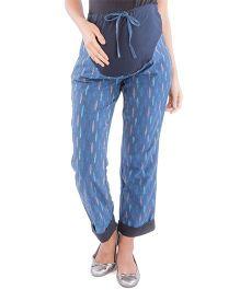 Morph Maternity Ikat Pants - Blue