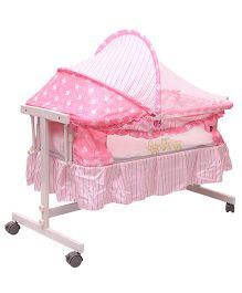 Toyhouse Baby Cradle with Swing Function - Pink