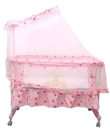 Toyhouse Baby Cradle With Rocking Function - Pink