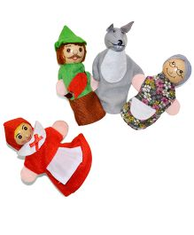 Tipy Tipy Tap Red Riding Hood Finger Puppets - Multicolor