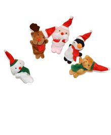Tipy Tipy Tap Santa Finger Puppets - Multicolor