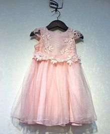Piperz  Cap Sleeves Party Dress - Peach