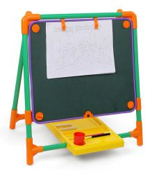 Toyzone 2 In 1 Educational Black Board - Black & Multicolor