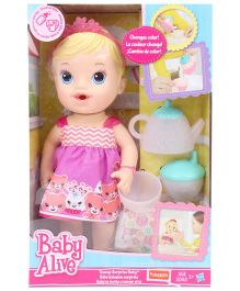 Baby Alive Teacup Surprises Blonde Baby Doll Pink - Height 30 cm