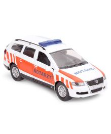Funskool Siku Emergency Car - White and Orange