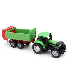 Funskool Siku Tractor With Universal Manures Spreader - Green