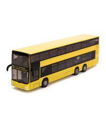 Siku Funskool Die Cast Double Decker Bus - Yellow