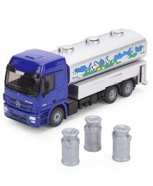 Funskool Siku Milk Collecting Truck - White And Blue