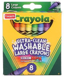 Funskool Crayola Large Washable Crayons - 8 Counts