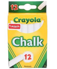 Funskool Crayola White Chalk - 12 Counts