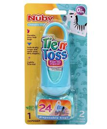 Nuby Tie N Toss Diaper Dispenser Bags - 24 Pieces