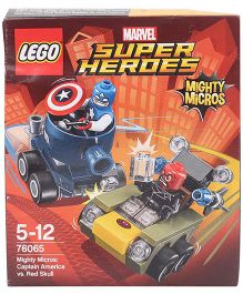 Lego Marvel Super Heroes Mighty Micros Captain America Vs Red Skull Multicolor - 95 Pieces
