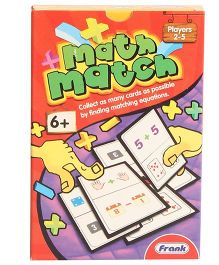 Frank Math Match Card Game Multicolor - 55 Cards