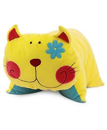 Sunlord Kitty Folding soft toy - Yellow