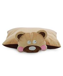 Sunlord Bear Soft Toy Folding Pillow - Brown