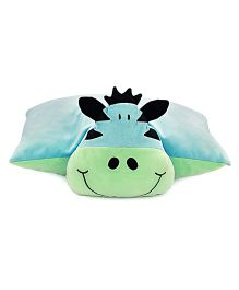 Sunlord Giraffe Soft Toy Folding Pillow - Blue & Green