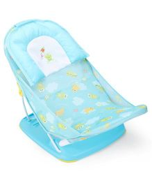 Mastela Baby Bather With Fish And Frog Print - Blue