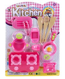 Baby Kitchen Set Pink - 8 Pieces