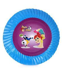 Fafa N Juno Paper Plates Blue And Violet - Pack Of 10