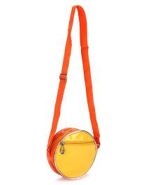 Little Krishna Round Bag Yellow & Orange - 6.5 Inches