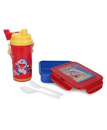 Doraemon Lunch Box And Sipper Set - Red