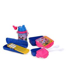 Doraemon Lunch Box And Sipper Bottle With Pencil Box - Pink