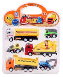 Smiles Creation Toy Truck Set Multicolor - Pack Of 5