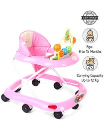 Babyhug Jolly Stroll Baby Walker With Music - Pink