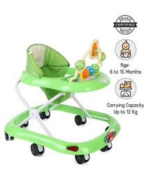 Babyhug Jolly Stroll Baby Walker With Musical Remote - Green