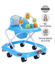 Babyhug Jolly Stroll Baby Walker With Musical Remote - Blue
