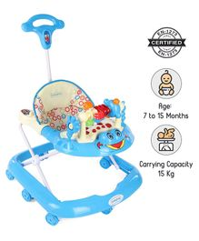 Babyhug First Walk Musical Baby Walker - Blue