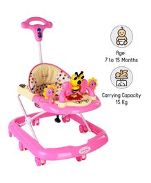 Babyhug Honey Bee Musical Baby Walker - Pink