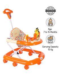 Babyhug Honey Bee Musical Baby Walker - Orange