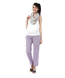 Nine Maternity Comfy Floral Printed Pajamas - Lavender
