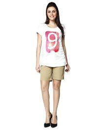 Nine Maternity Nursing Short Sleeves T-Shirt - White