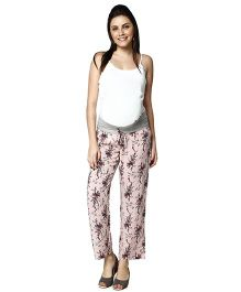 Nine Maternity Comfy Printed Pajamas - Pink