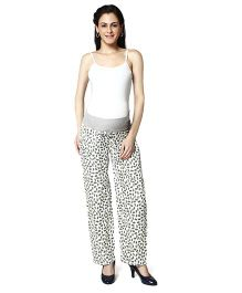 Nine Printed Maternity Comfy Pajamas - Light Grey