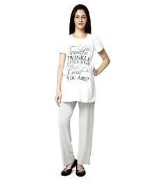 Nine Maternity Pajama Sleepwear Set - White