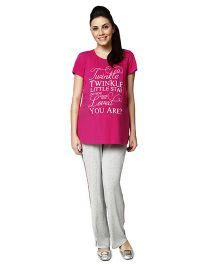 Nine Maternity Pajama Sleepwear Set - Pink