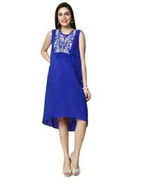 Nine Sleeveless Maternity Dress - Blue