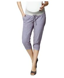 Nine Maternity Lounge Capri Pants - Lavender