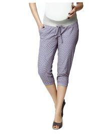 Nine Maternity Lounge Capri Pants - Lavender