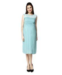 Nine Sleeveless Maternity Dress - Sea Green