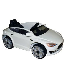 Marktech Battery Operated B Wild Telsa 115 Ride On Car White - JE115 WHT