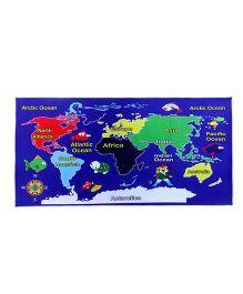 Gravolite Kids World Map Design Education Cum Play Mat - Blue