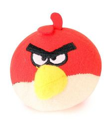 Flyers Bay Angry Bird Plush Soft Toy With Detachable Keychain - Red