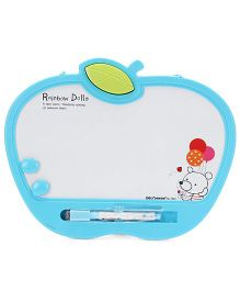 Deli Rainbow Dolls White Board With Marker And Duster - Blue