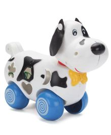 Baby Dog Shape Blocks Game - White And Black